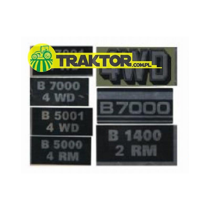 Naklejki KUBOTA B7000,B7001,B5000,B5001,B6001,4WD (7 models)