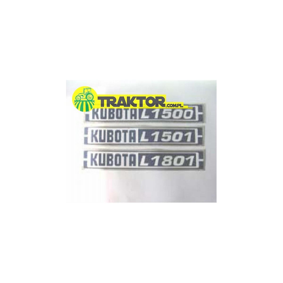 L1500DT KUBOTA Sticker Set