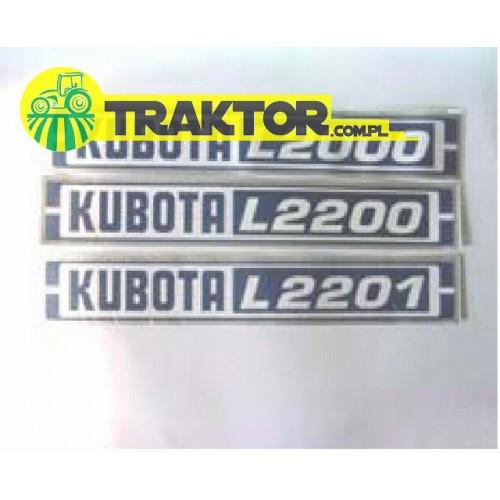 Zestaw naklejek KUBOTA L2000