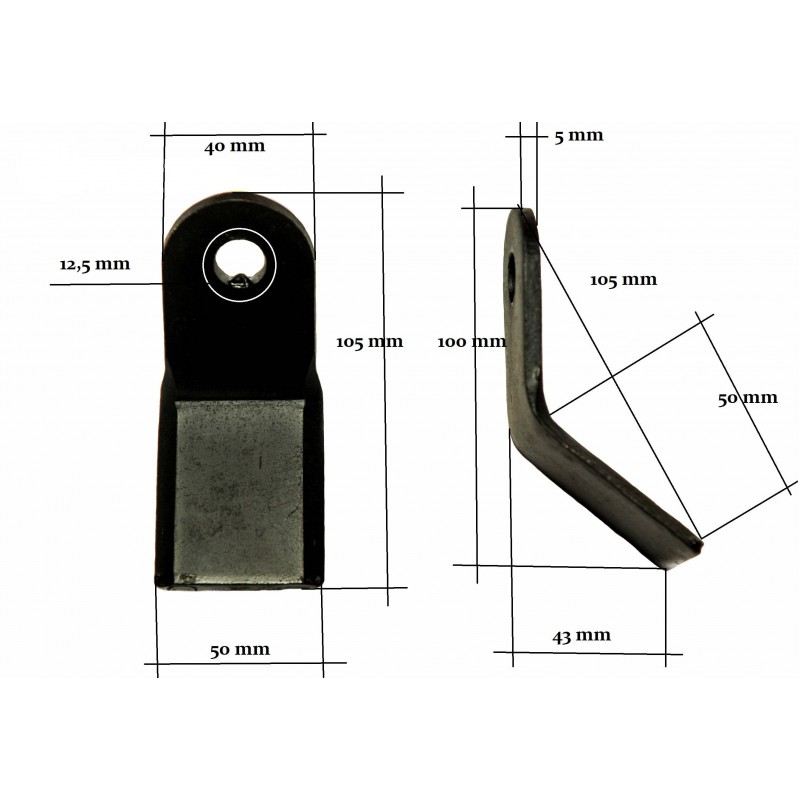 Flail mower blade - Type Y EF EFG AG-L 12 mm 200 g