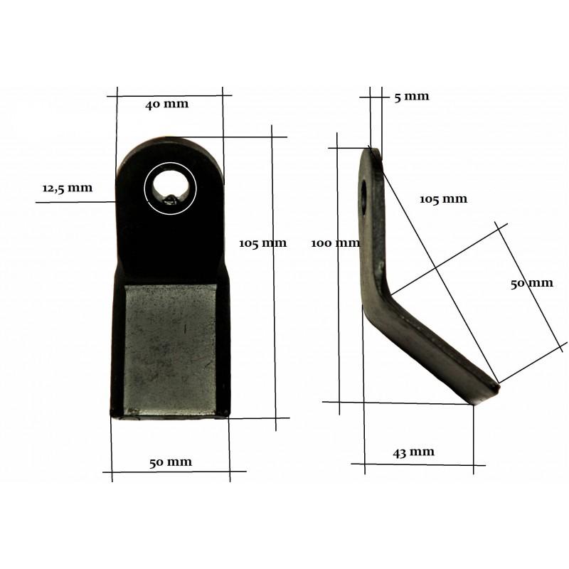 Nóż, bijak typu Y kosiarki bijakowej EF EFG AG-L 12 mm 200 g