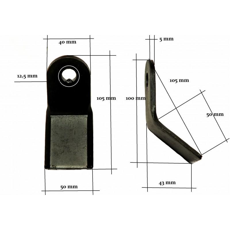 Messer, Y-Schläger EFG AG-L 12 mm 200 g