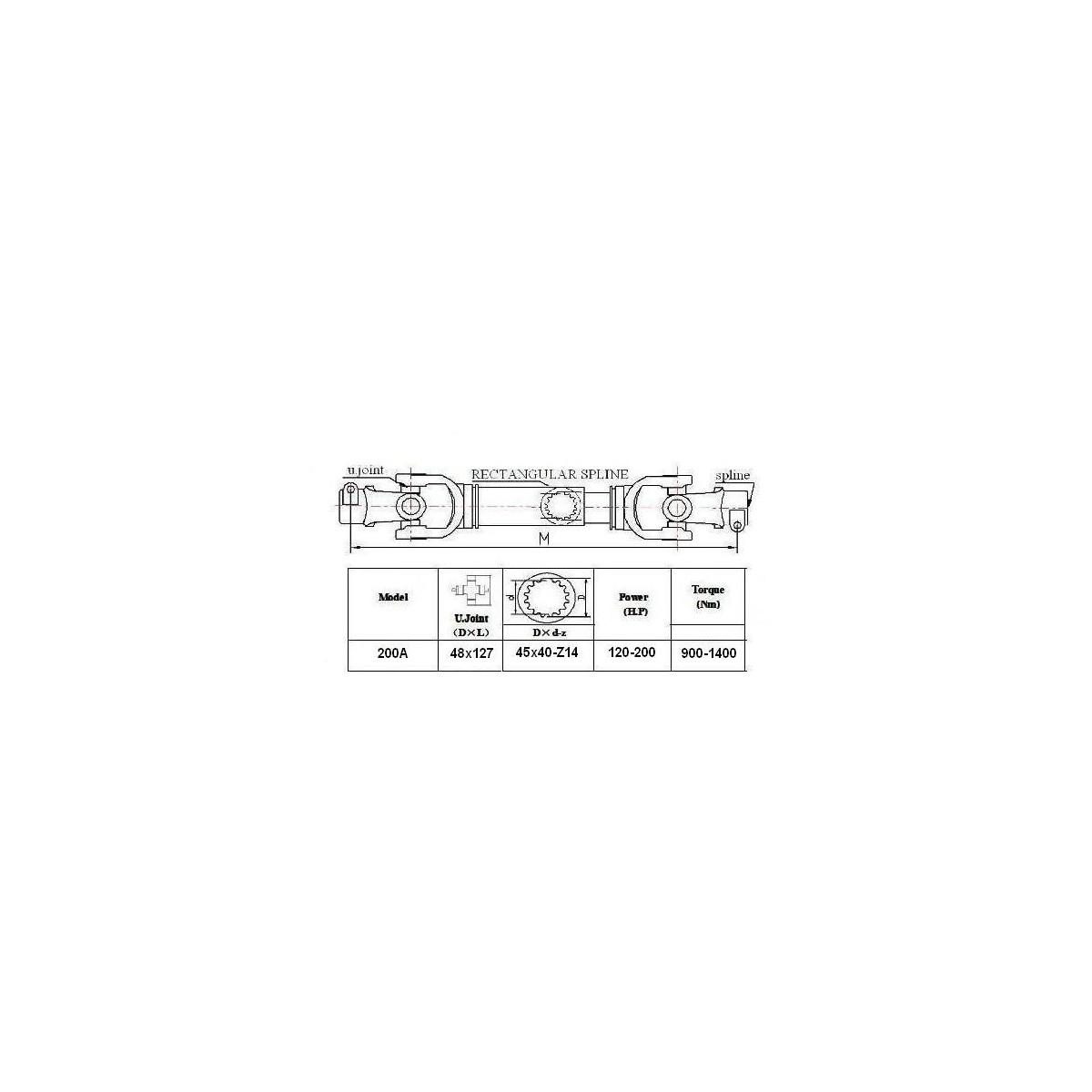 Wałek WOM 200A - 100cm