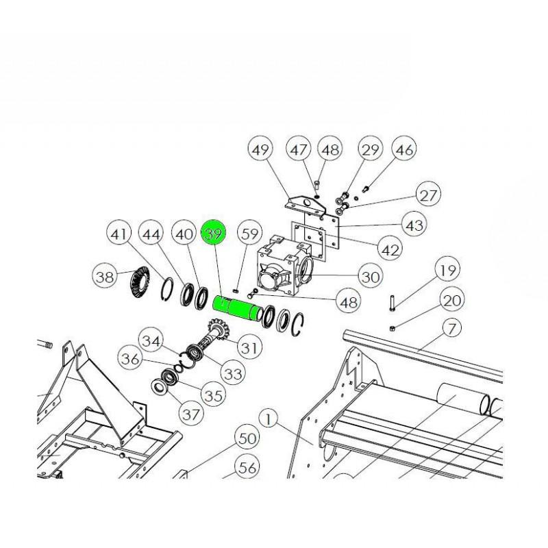 Tuleja wałka wyjściowego przekładni kątowej do glebogryzarki SB