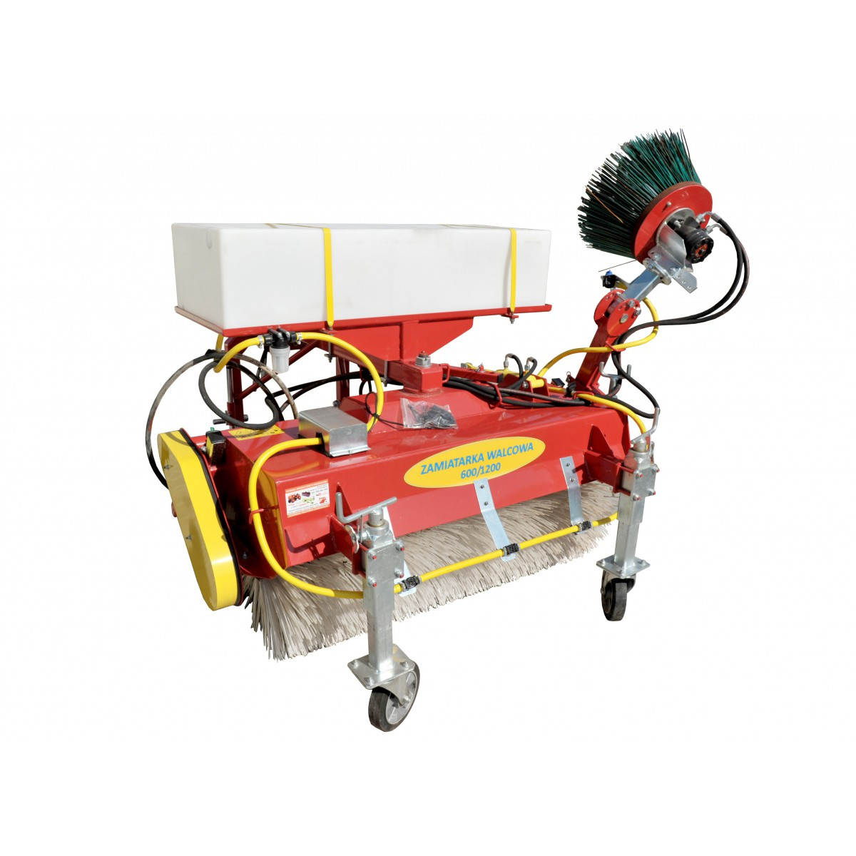 600/1200 mm roller street sweeper with watering container and side brush