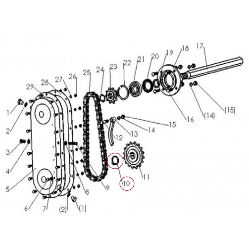 Retaining ring 38x46 mm ring securing segment separating tiller SB