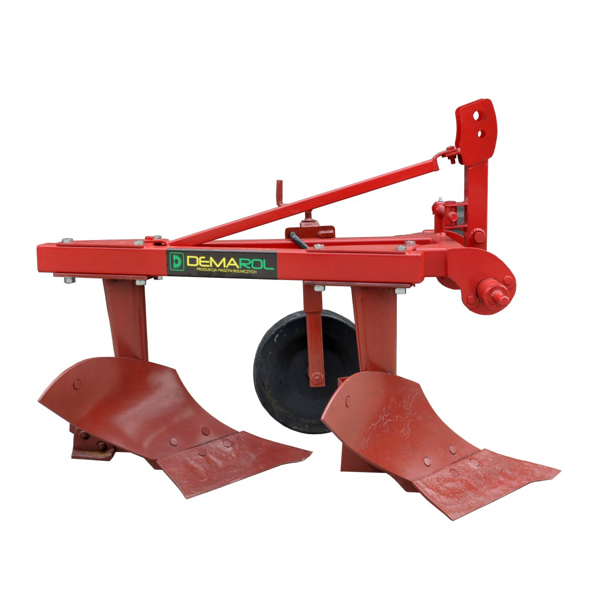 Two-furrow plow with a support wheel