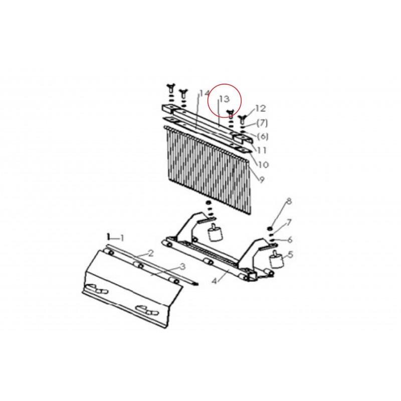 Metal profile pressure plate SB85 separation tiller