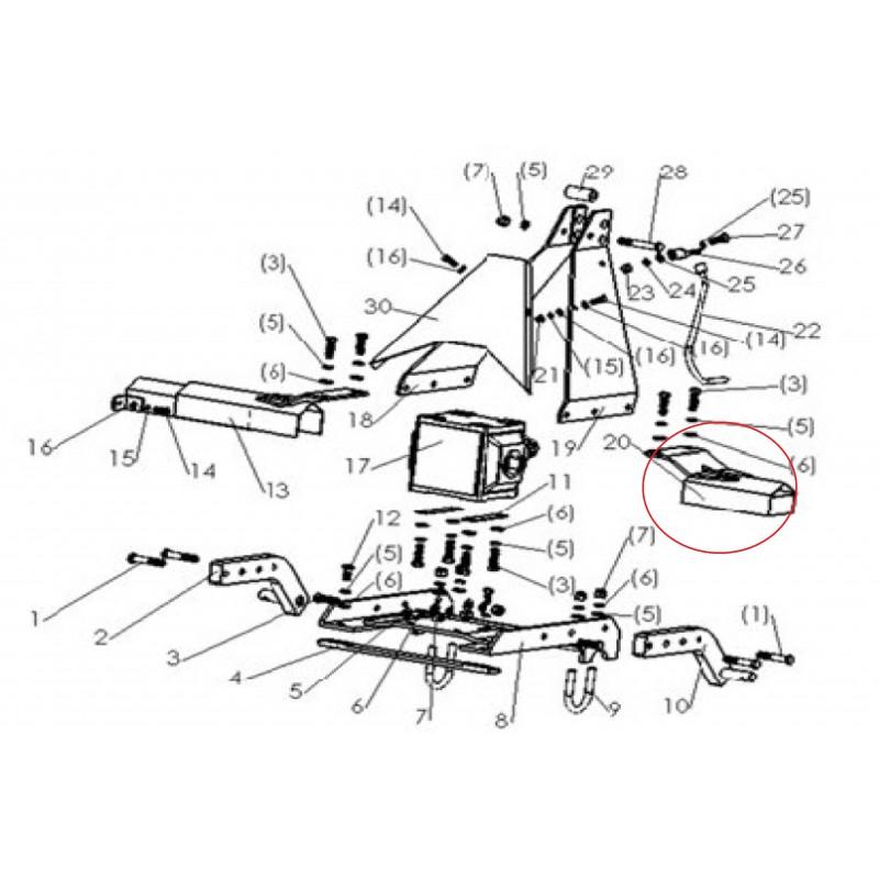 En sleeve weldment Cover casing metal sleeve separating rotary tillers SB