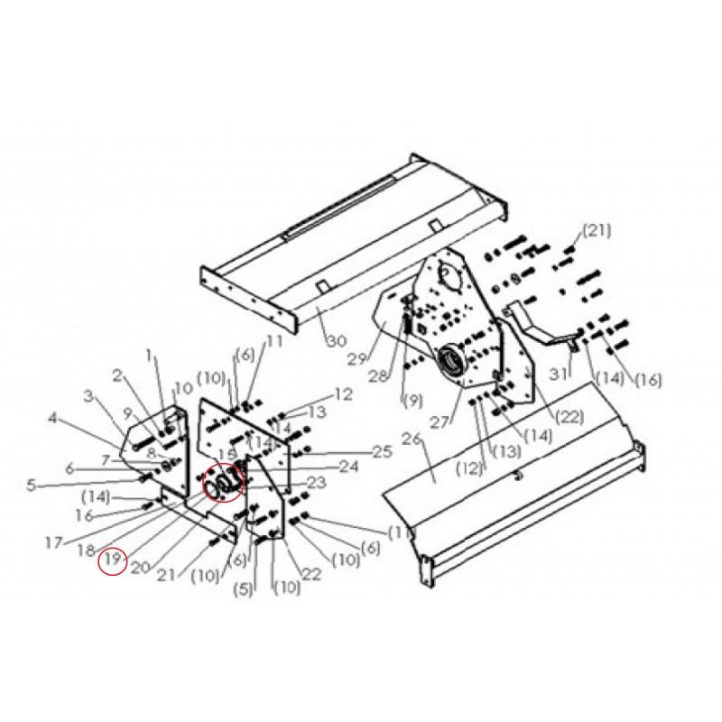 Bearing shaft of the separation tiller SB