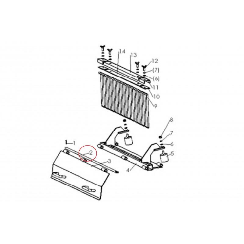 Tooth pressure bar 265 mm for separating tiller SB