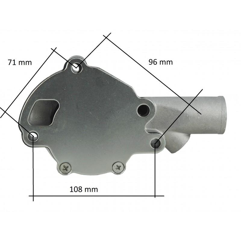 Mitsubishi D1300, D1500VFD, D1600, D1800, D2000, MT1300, Satoh ST1300, ST1440, ST1510, Iseki TX1500, TX1300 water pump