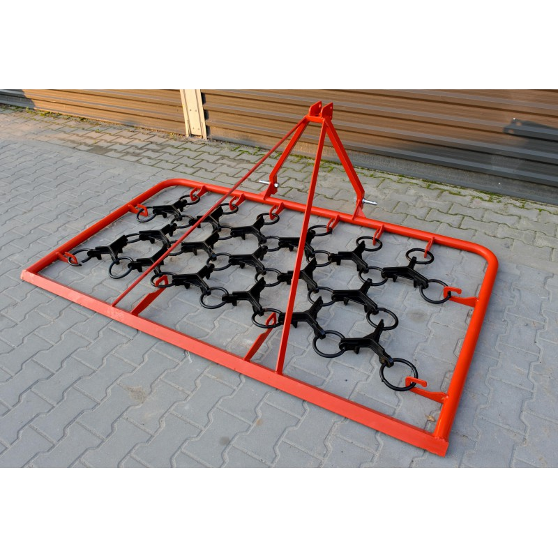 Meadow-field harrow, working width 160 cm, for mini tractors and small tractors