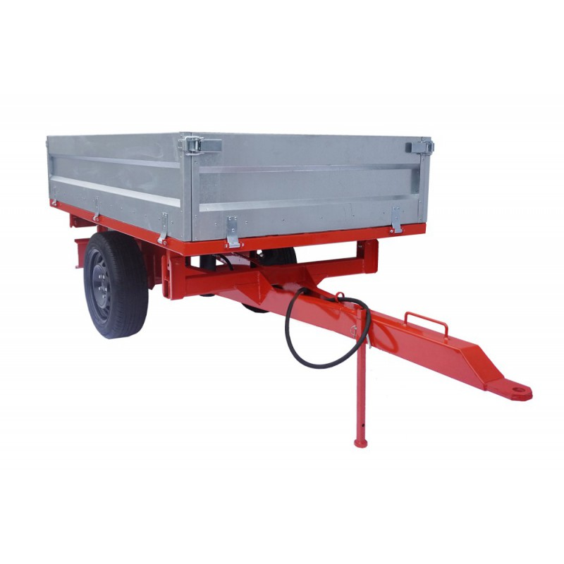 Trailer with a tipper 1250x2050 mm