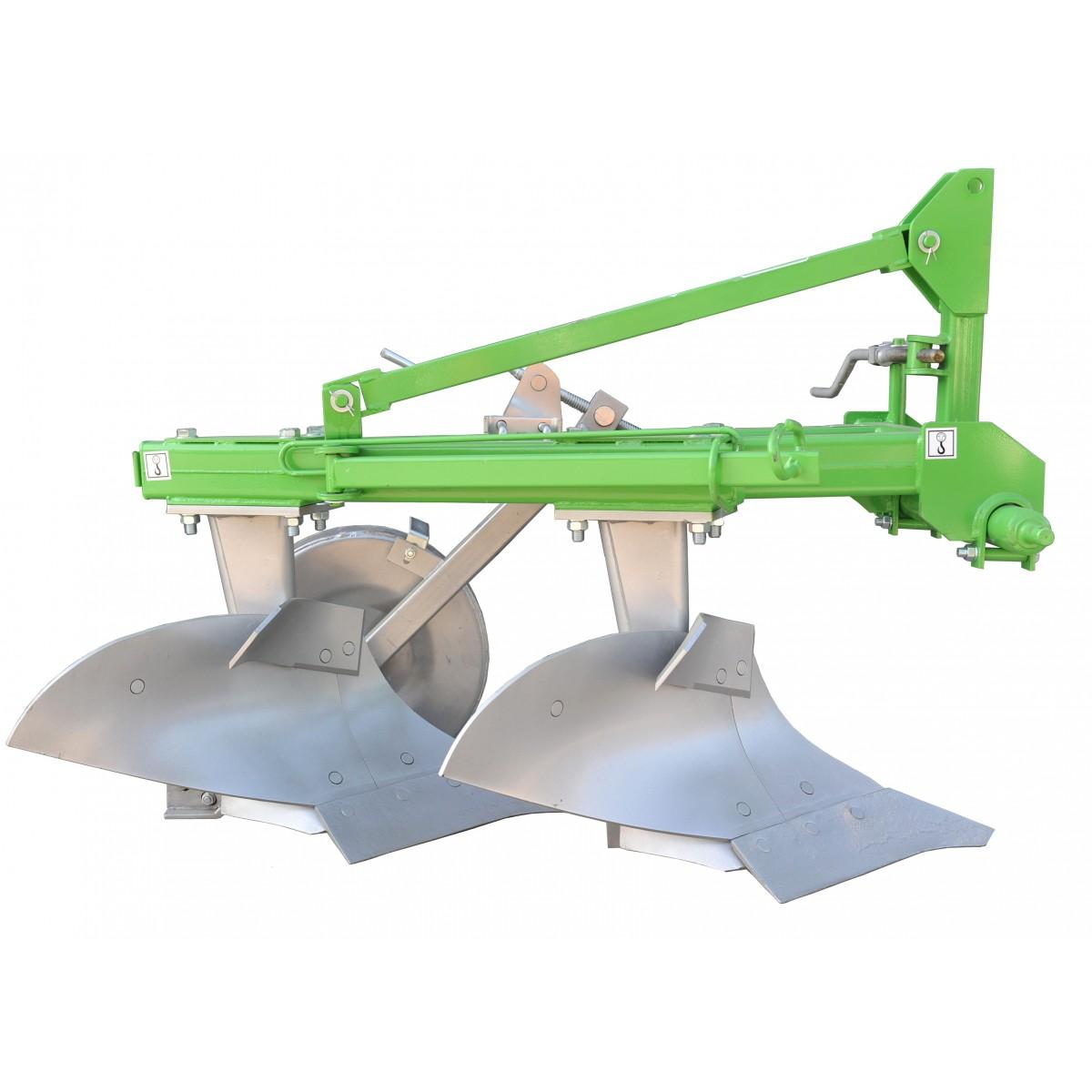 Double furrow plow BOMET on three-point linkage Cat II