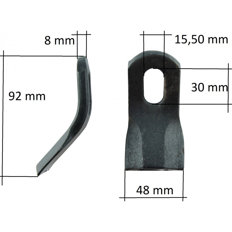 Set of Y-type knives, hammers, flails for the flail mower EF, EFG, AG, AM, 15mm, 320 g