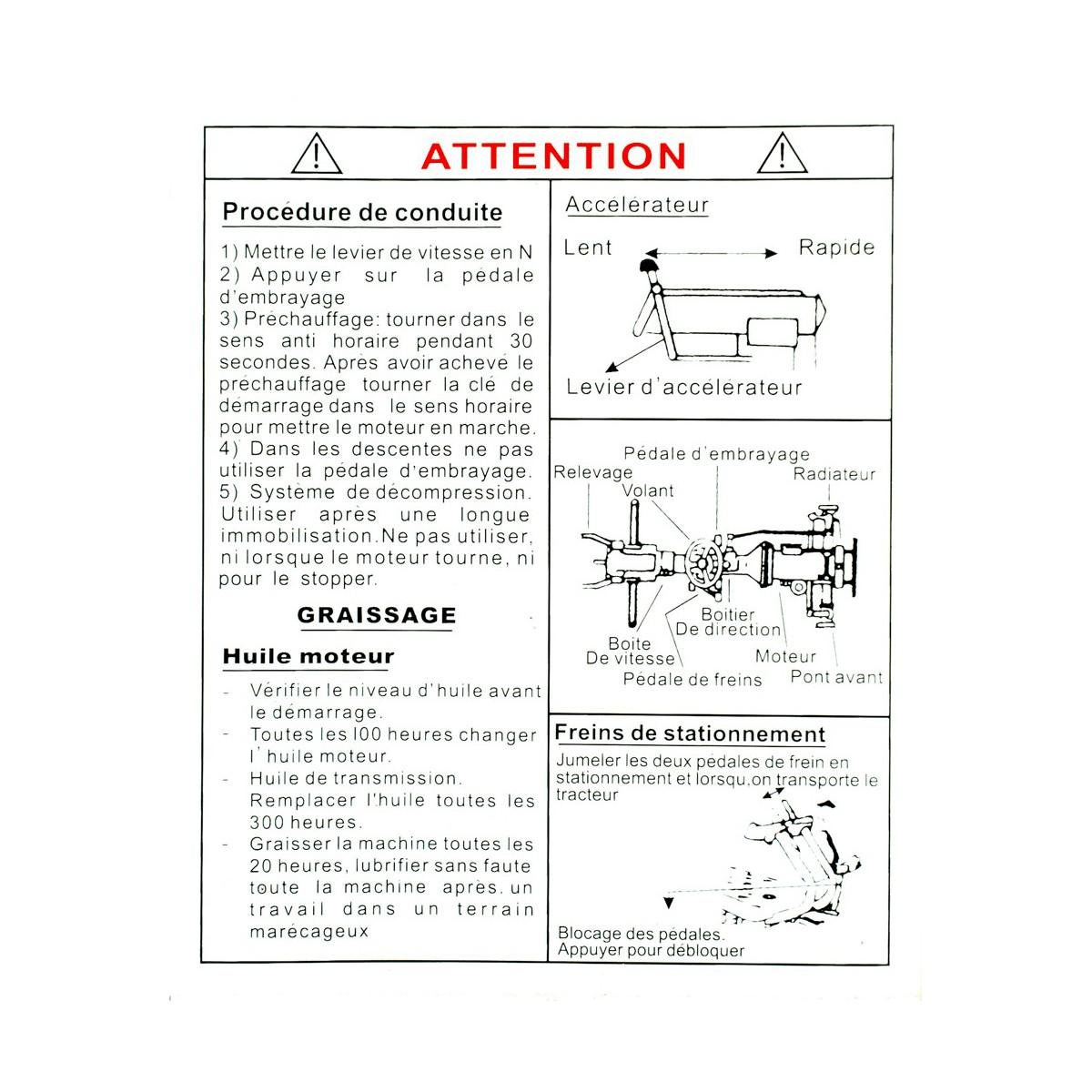 Naklejki ostrzegawcze 148*125mm