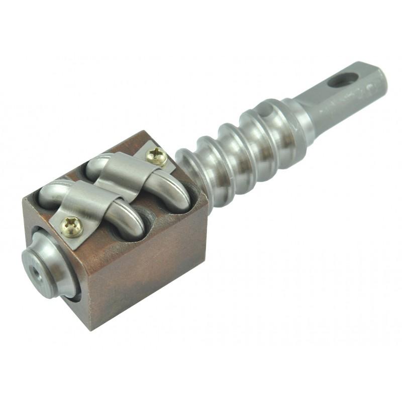 Steering shaft, repair kit, worm of the steering gear Kubota B1600, B1702, B1902