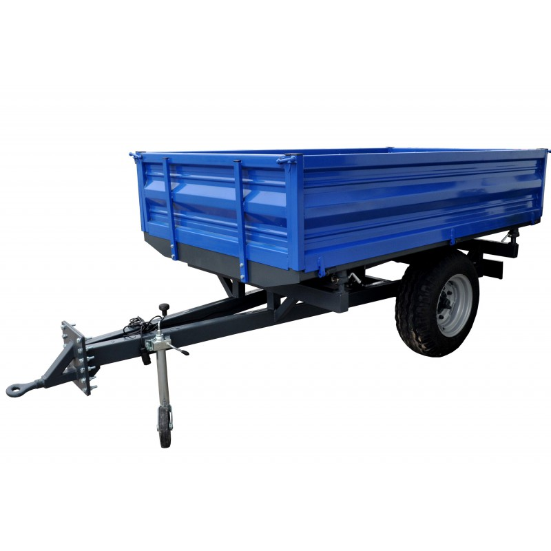 Garden trailer with a capacity of 2 tons, with 3-way tipping and electrical installation