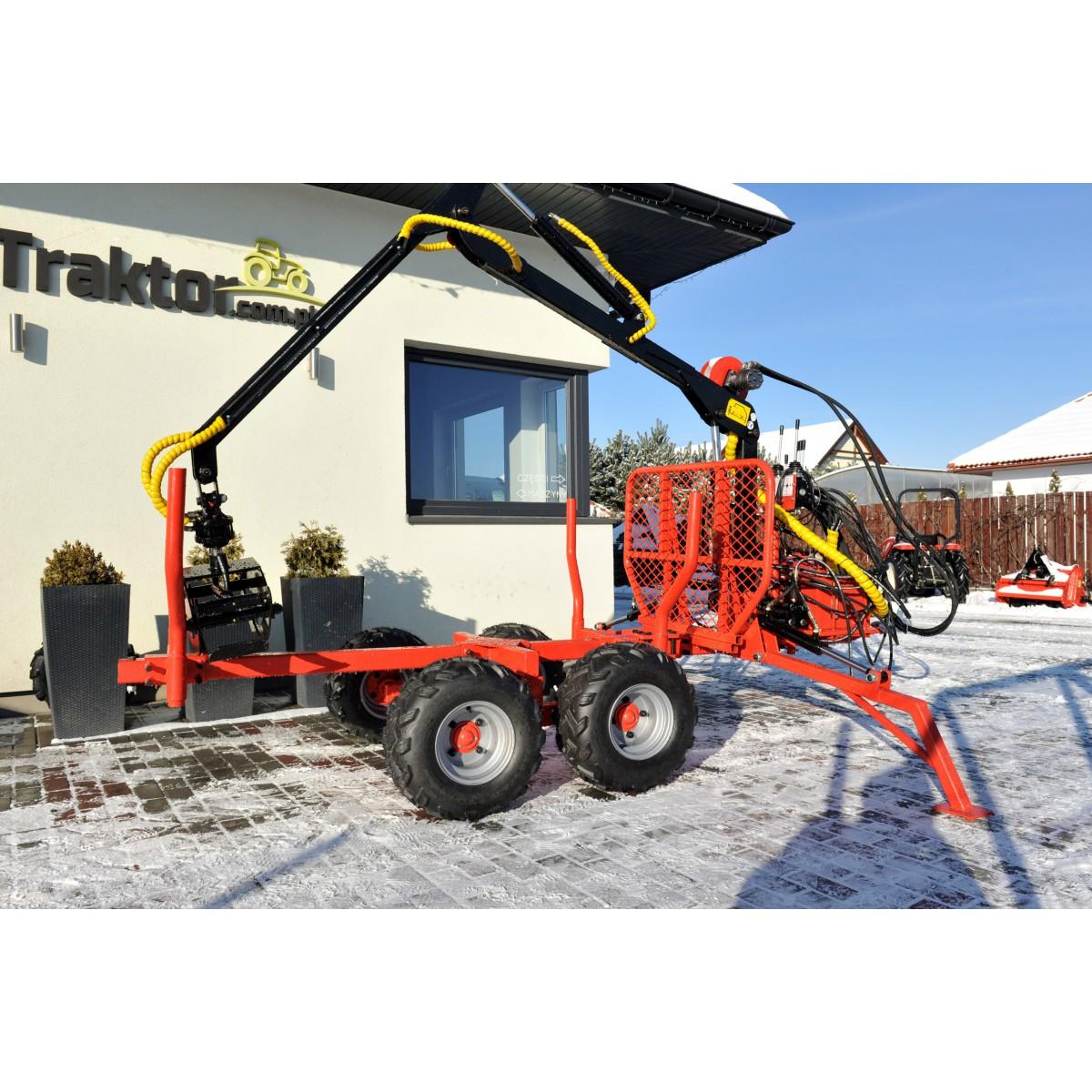 Timber trailer with crane, loader LT1500 HDS 1.5T / 300 kg