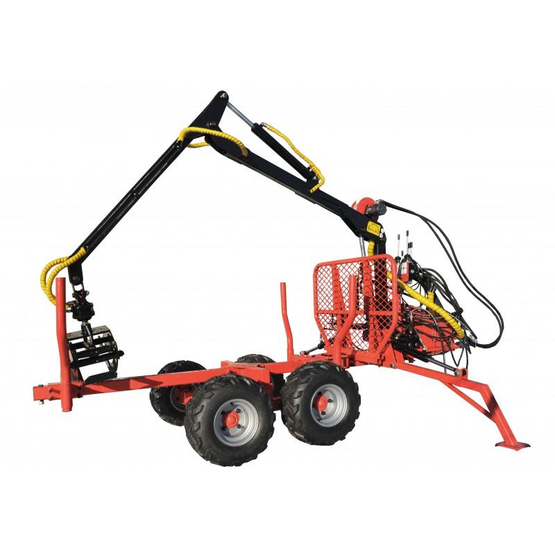 Remolque maderero con grúa, cargador LT1500 HDS 1.5T / 300 kg
