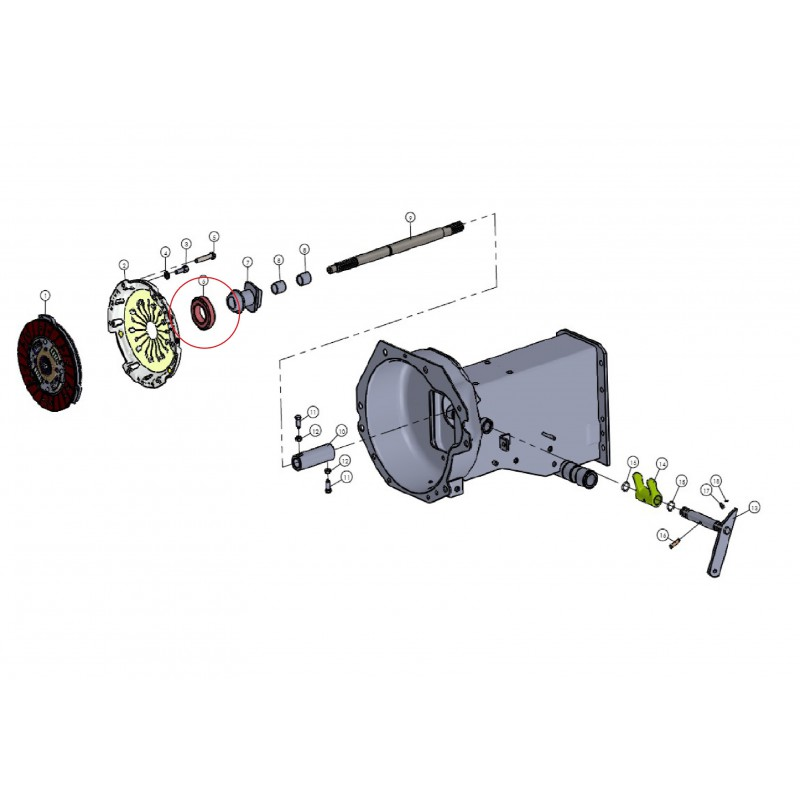 Release bearing, pressure TG 1956-1 70x40x20 mm clutch Mitsubishi VST MT180 / 224/270