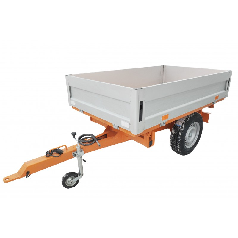 Trailer for the tractor 1250x2050 mm ALU GEOGRASS