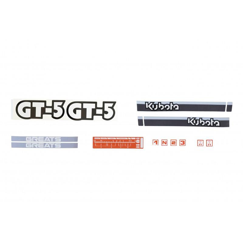 Kubota GT5 hood stickers
