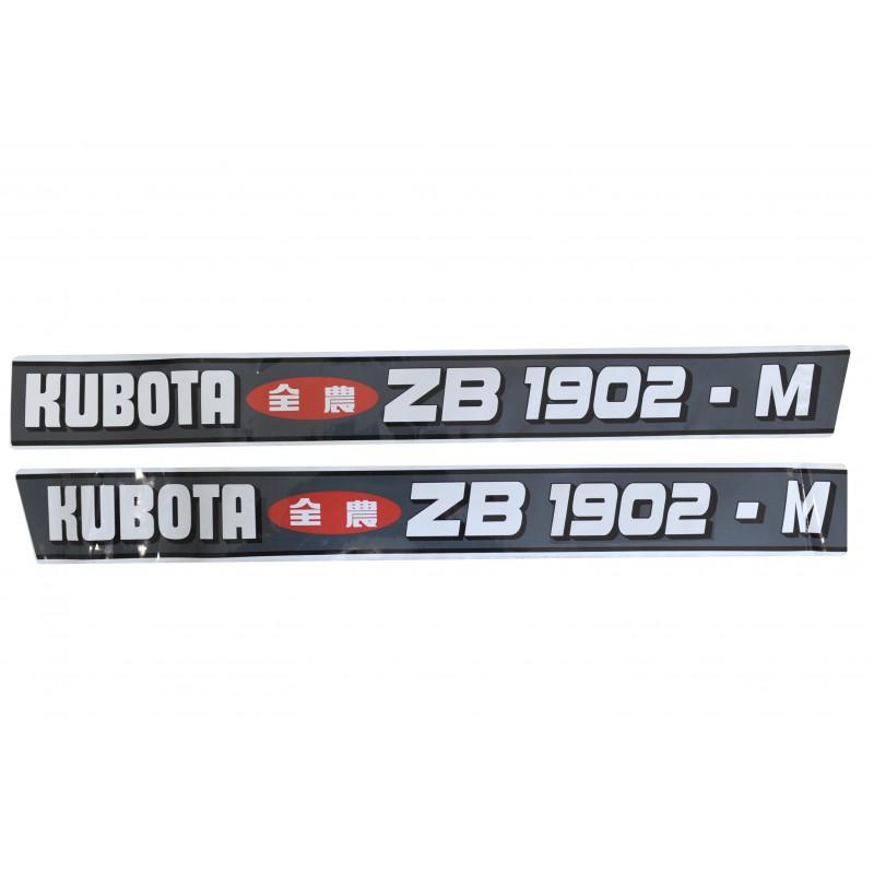 Kubota ZB1902-M stickers, 2x4 2WD, 4x4 4WD