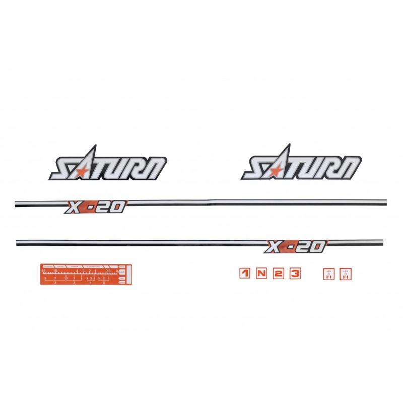 Kubota Saturn X-20 stickers