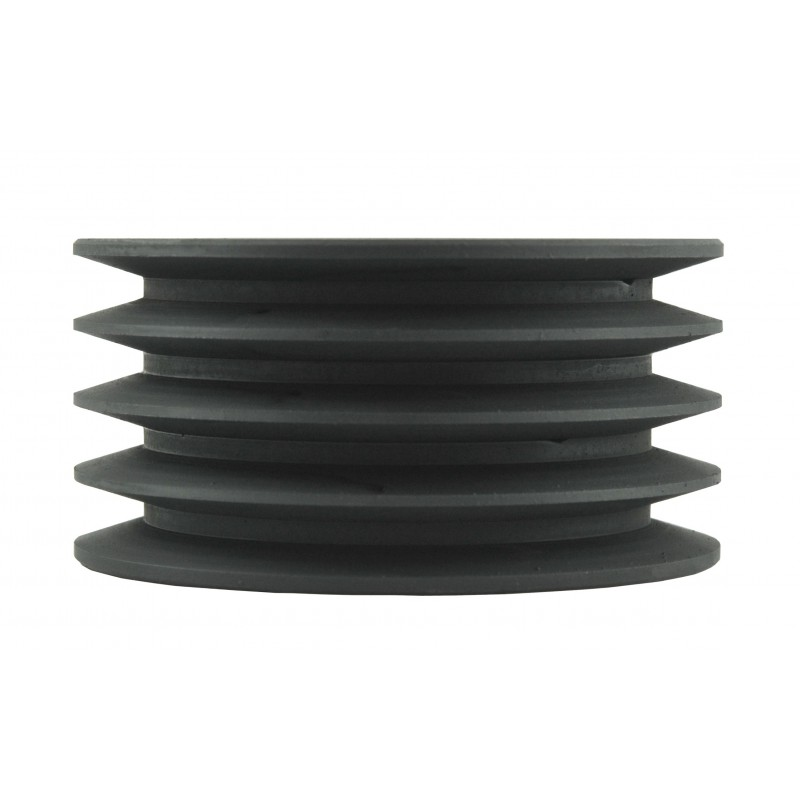 Pulley 130 x 50 x 65 mm for 4 A13 belts for flail mower.