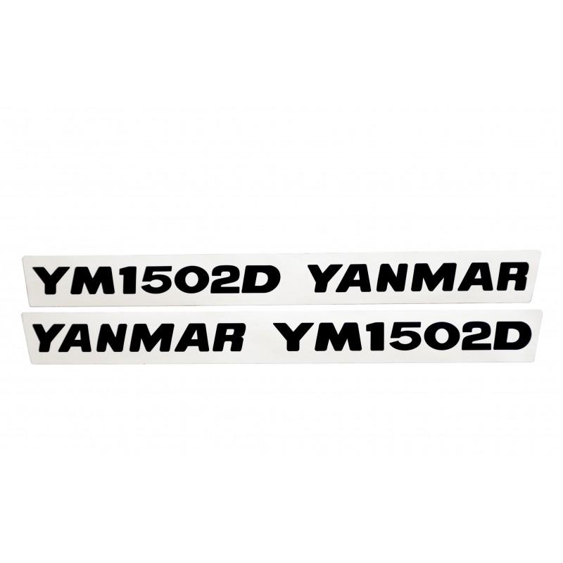 Stickers (2 pcs) Yanmar YM1502D