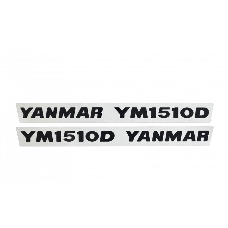 Stickers (2 pcs) Yanmar YM1510D