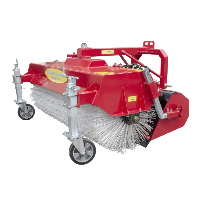 Roller street sweeper 600/1700 mm with a basket opened manually on the tractor's three-point linkage