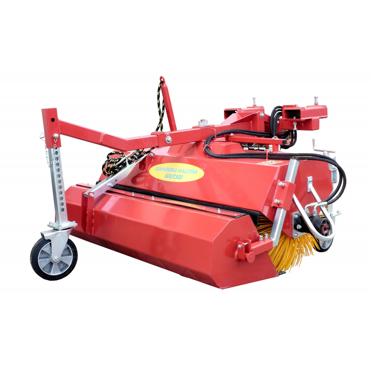 Roller street sweeper 600/1500 with a basket opened hydraulically