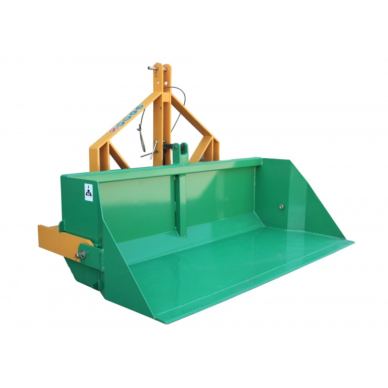 Transport box 160 cm with manual tipper, load capacity 700 kg
