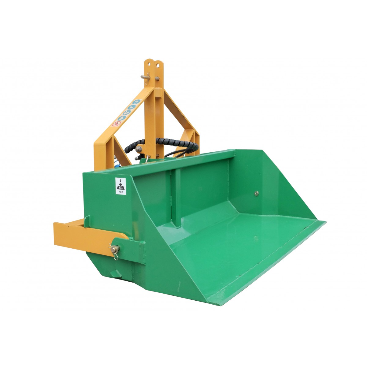 180 cm transport box with a hydraulic tipper, capacity 700 kg