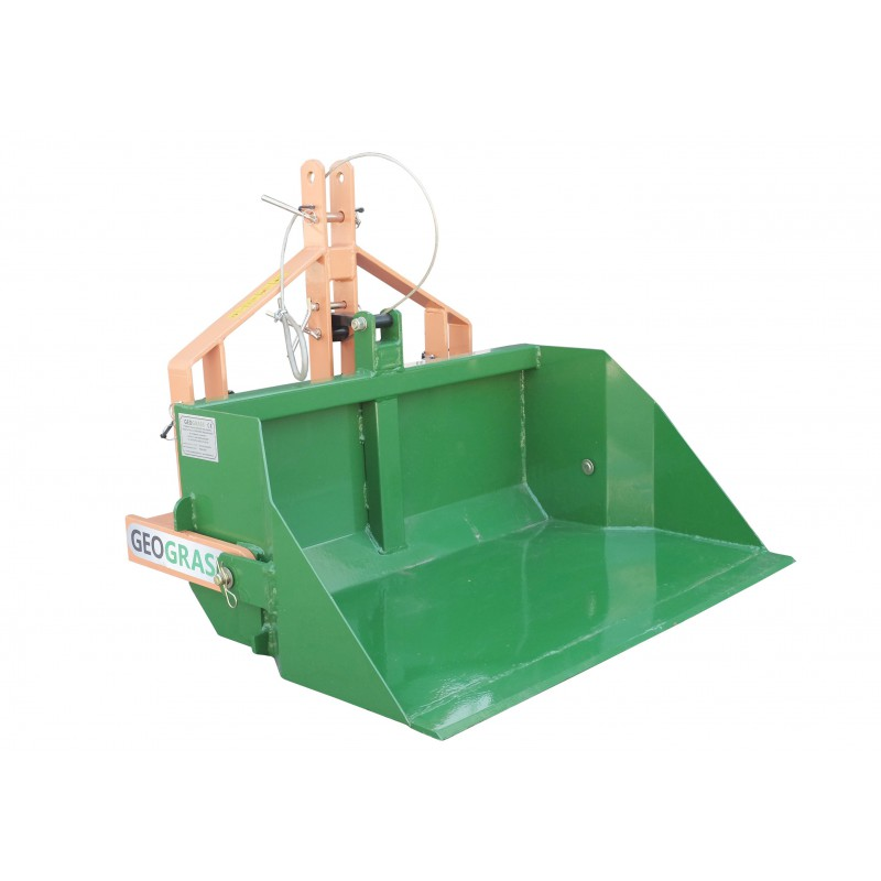 Skrzynia transportowa 140 cm z kiprem manualnym udźwig 500 kg