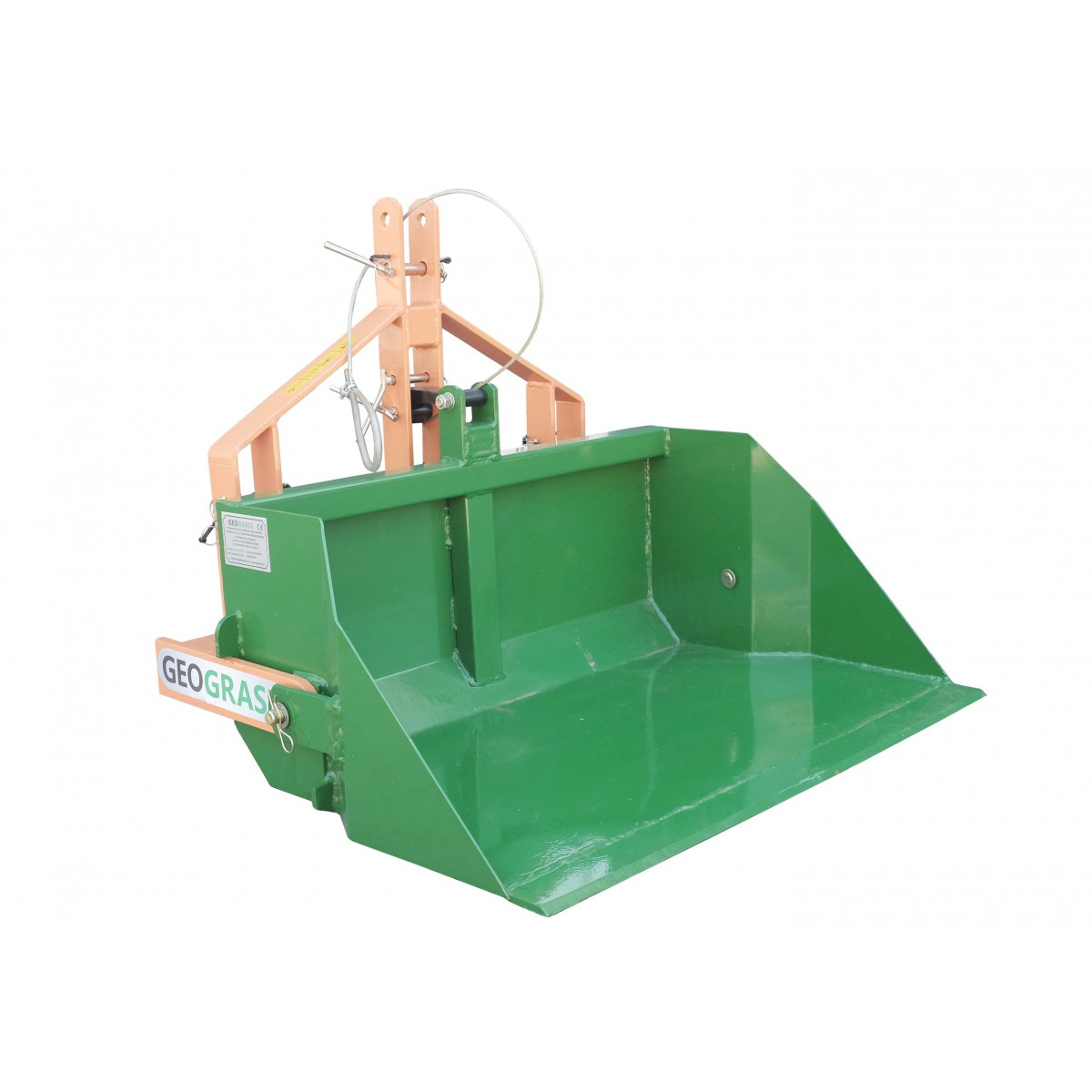 Transport box 140 cm with manual tipper, load capacity 500 kg