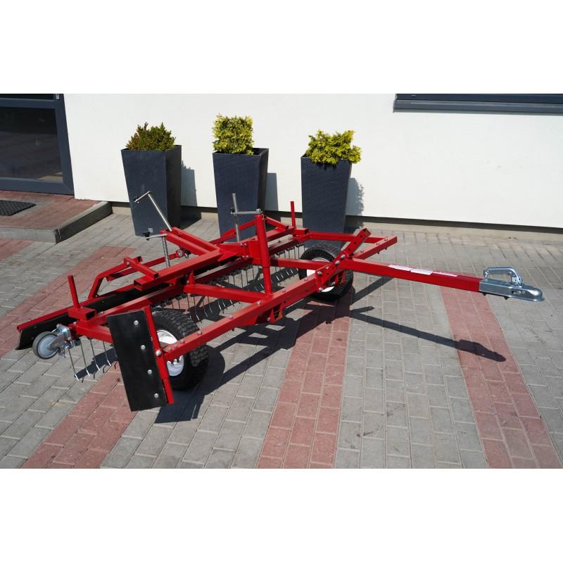 2000 mm ATV grader, beach leveler, equestrian ground - paddocks, harrow for manages