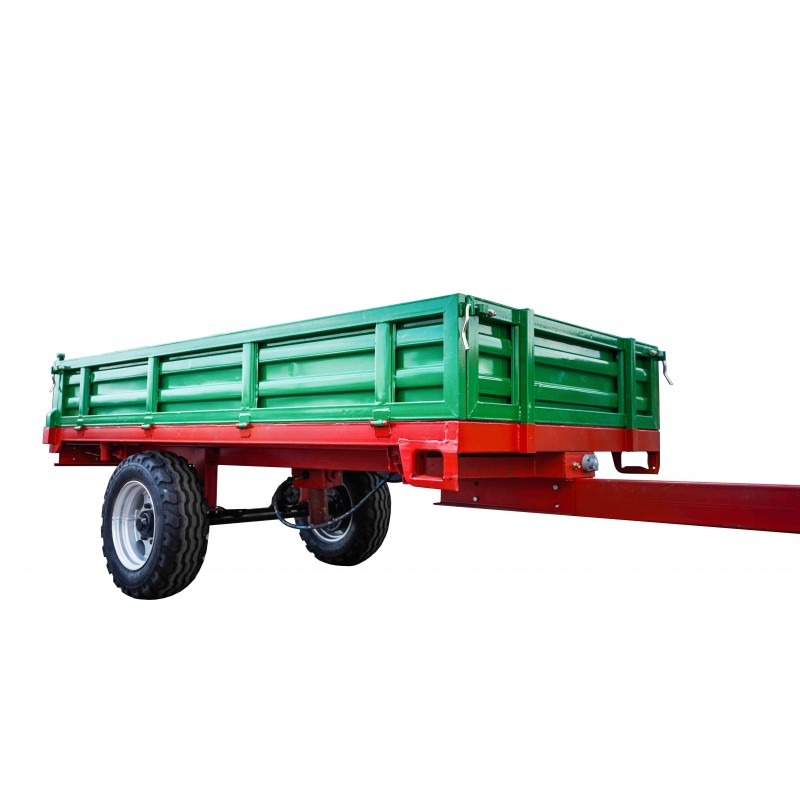 1 axle agricultural trailer, 3T, 7CX-3D, 3100 x 1600 x 400 mm