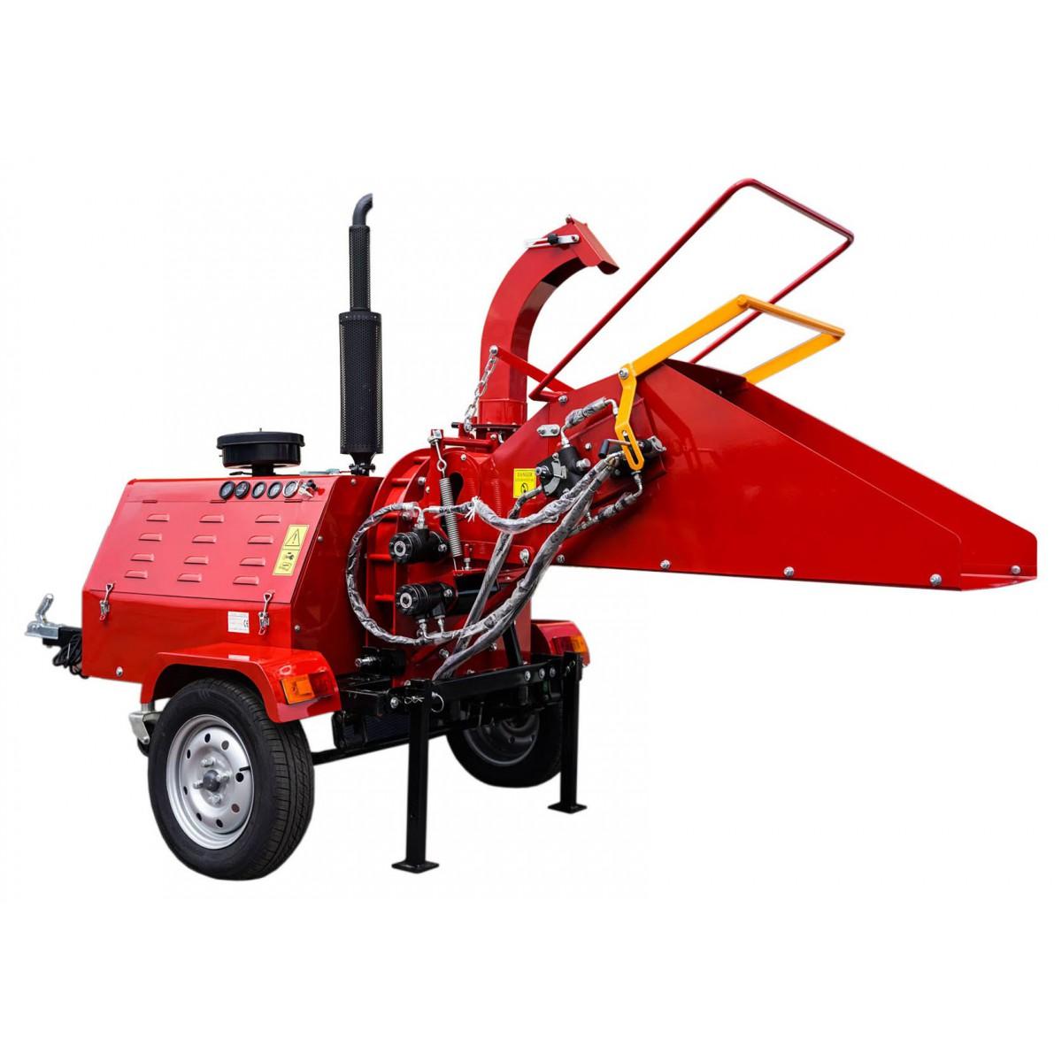Бензиновый измельчитель с дизельным двигателем 40 км, гидравлический забор измельченного материала