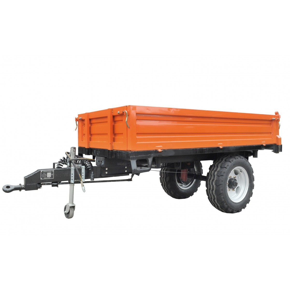 copy of Agricultural trailer 1.5T, 1 axle with a tipper 2000 x 1250 x 400 mm