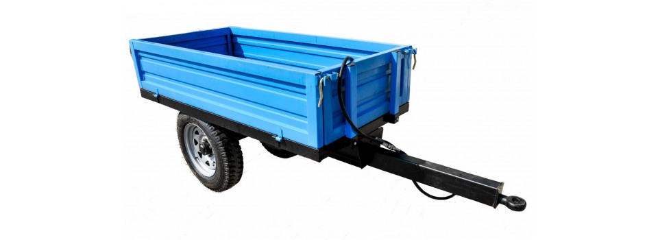 Trailers for mini tractors.