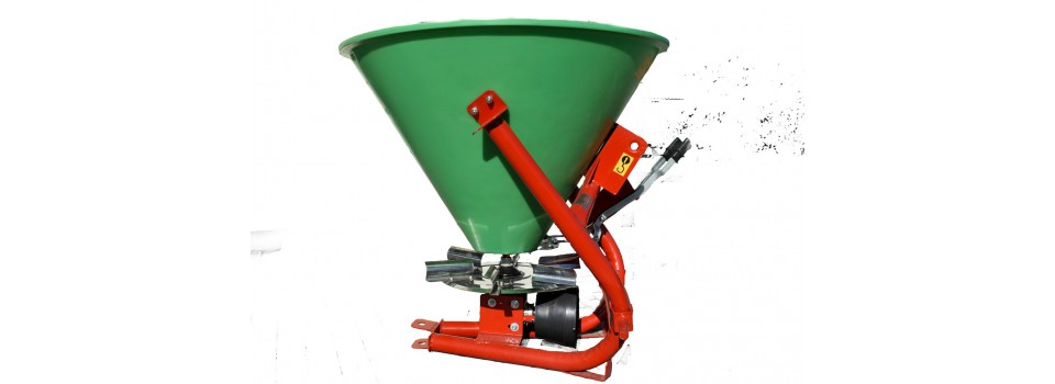 Fertilizer and loose material spreaders.
