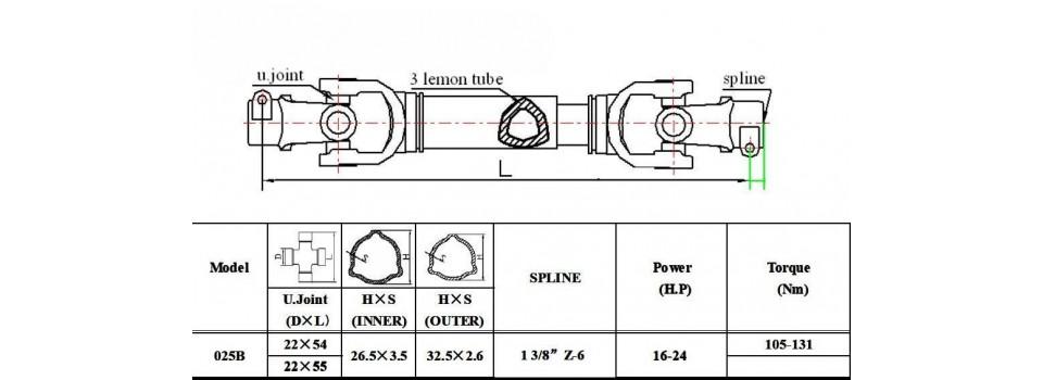 Wałki 025B moc 24 KM