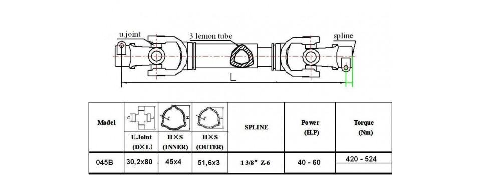 Wałki 045B moc 60 KM