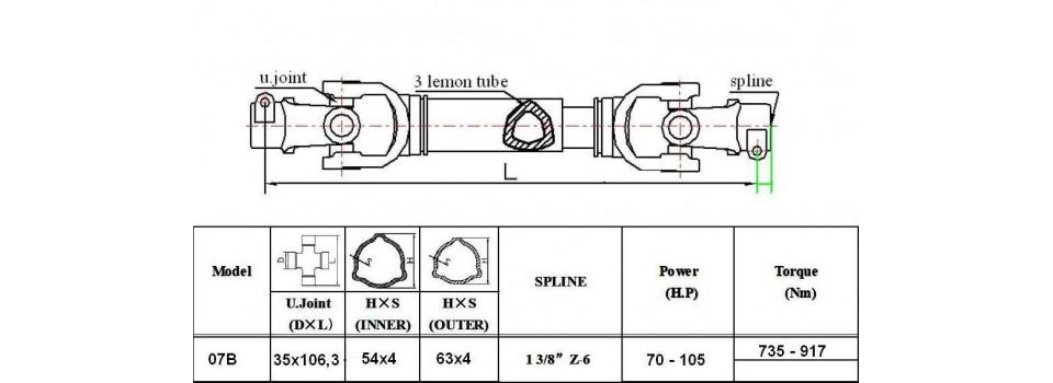 Wałki 07B moc 105 KM
